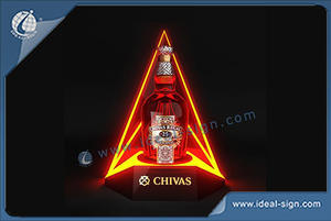 Chivas Triangle Shape LED Bottle Glorifier Double