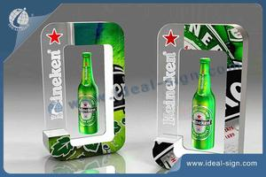 Custom made magnetic levitation bottle glorifier lighted acrylic bottle display for wholesale