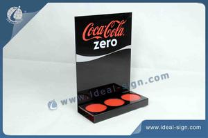 CocaCola Zero Acrylic Liquor Bottle Stand With 3 Bottle Holder