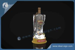Custom made lighted acrylic wine bottle display led liquor display supplier