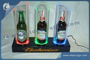 Wholesale custom LED beer bottle display lighted liquor display China supplier