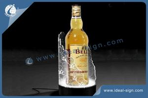 Water And Liquor Bottle Light Display Shelf Silk Printing Logo