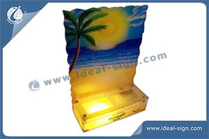 Custom made illuminated bar bottle stand led beer display lighted acrylic bottle glorifier