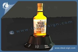 Wild Turkey Brand LED Bottle Glorifier Acrylic For Exhibiting Or Advertising