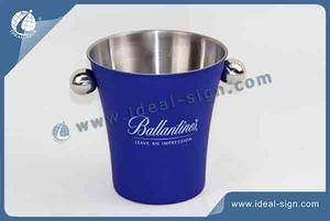 Wholesale personalized stainless steel ice bucket with handrails and custom size
