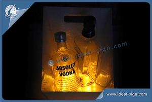 China square 3mm acrylic illuminated ice buckets plastic beverage tubs beer chillier distributor