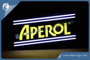 Aperol Neon Effect Indoor LED Sign With Vacuum Forming Tech For Brand Promotion