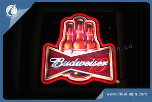 Wholesale custom neon light signs led neon sign Budweiser beer signs