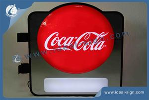 Custom Coca Cola Vacuum Formed Sign illumianted signs box displays wholesale