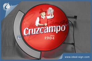 Custom Vacuum Formed Sign Cruzcampo Led Illuminated Bar Signs CYMK Silk Printing