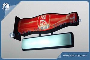 Coca Cola Bottle Shape Illuminated Pub Signs Wall Mounted For Outdoor Use