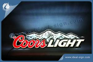 Coors Light Light Up Wall Signs Made Of Acrylic LED For Beer Promotion And Brand Advertising