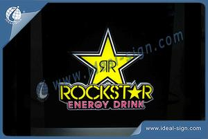 Rockstar Indoor LED Light Signs For Brand Display Advertising