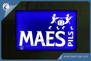 Custom Black Acrylic LED Indoor Light Up Signs And Displays MAES