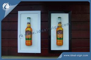 Custom wholesale acrylic vacuumed led light signs beer wall-mounted signs
