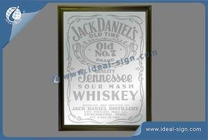 "13"" * 18"" Jack Daniels Bar Mirror With Wooden Frame"