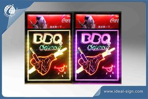 Personalized led writing board signs as QQB bar shop menu board signs