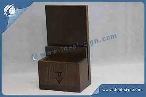 Supplier for wooden table top menu holder table tent with custom design