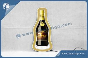 Wholesale beer bottle shape thin light box slim led light box sign for indoor use