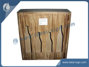 Hollowed-out European Design Wooden Wine Box 35X40X10CM