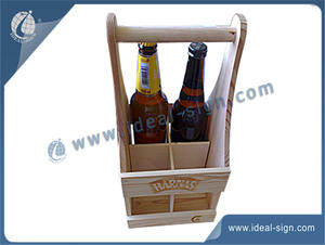 Personalized wooden racks for beer holding beverage packing wooden basket China supplier