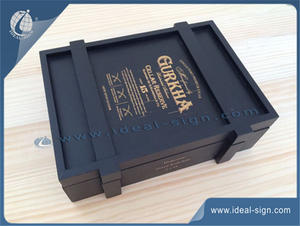 Custom made natural pine wooden boxes for wine gift packing wholesale
