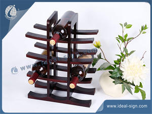 12 - Bottle Wood Wine Holder Pine MDF Display 30 * 15 * 40CM