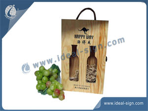 Custom wine and liquor packing boxes made of natural wood, pine woode packing boxes distributor