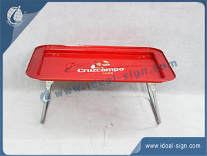 Large Metal Serving Tray For Cruzcampo For Bar Use