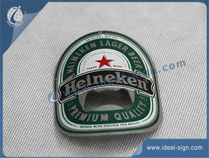 Custom metal bottle openers  beer openers with beer logo risen high