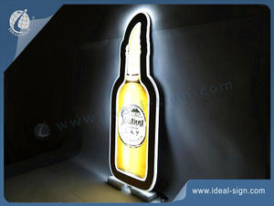 Savanna Bottle Shape LED Slim Light Sign For Indoor Promotion