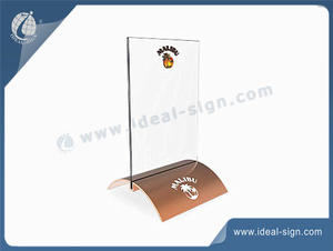 Personalized wholesale menu display with napkin holders supplier.