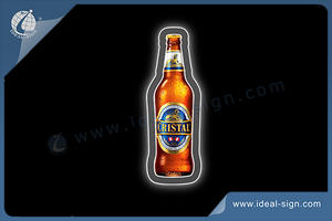 CRISTAL Bottle Shape Ultra Slim Indoor Led Illuminated Sign