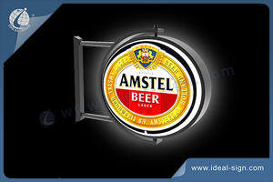 AMSTEL BEER Illuminated Rotating Light Sign