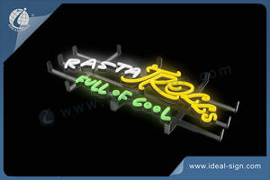 LED Neon Sign With Metal Frame To Imitate Real Neon Sign