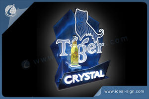 Tiger Crystal LED Neon Sign /Bottle Glorifier