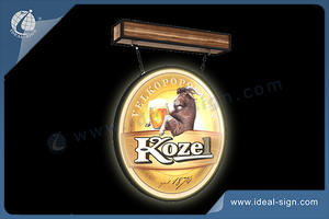 Illuminated Bar and Pub Sign,Kozel Lighted Pub Sign