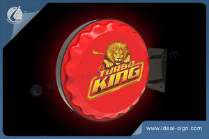 TURBO KING Beer Sign Vacuum-Formed LED Light Sign