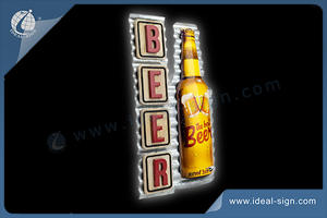 Vintage Metal Beer Signs Tin Retro Wall Wood Iron Plaque