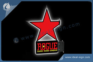 ROGUE STAR light sign Double side led light sign