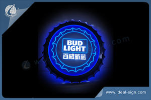Crown Cock BUD LIGHT Indoor Led Signs Led Advertising Signs