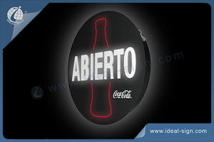 Round Coca Cola Light Box Led Advertising Signs
