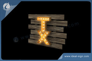 TX Indoor LED Letter Wall Sign Light Bulb Panel