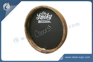 Custom Round Advertising Chalkboard