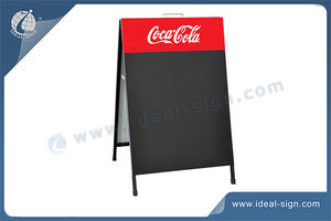 Outdoor Customized Advertising Chalkboards Metal A-Frame With Handle
