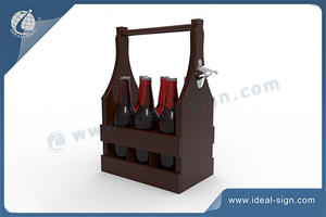 Custom wine gift box wooden manufacturing wwooden beer crate for wholesale