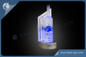 LED Metal Bottle Presenter