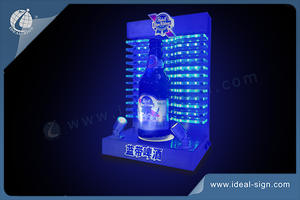 Dynamic LED Liquor Bottle Display