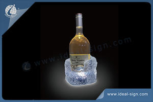 LED Iceberg Glorifier Ice Effect Poly Resin Bottle Display