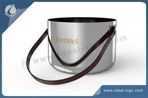 Stainless Steel Ice Bucket With Pull Rope